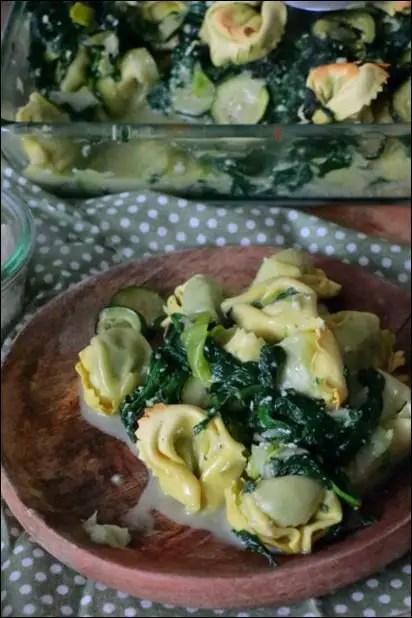 gratin tortellini courgettes