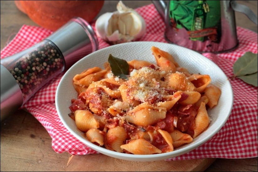 pates tomates pancetta
