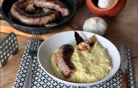 saucisse de toulouse et purée de pommes de terre d'Eric Fréchon