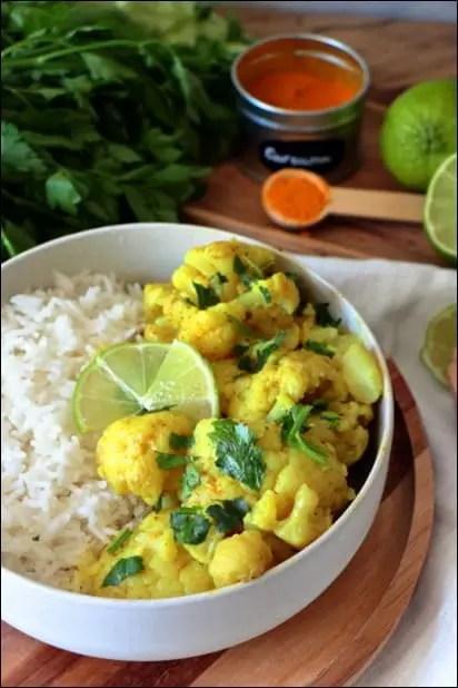 recette chou fleur curry indien