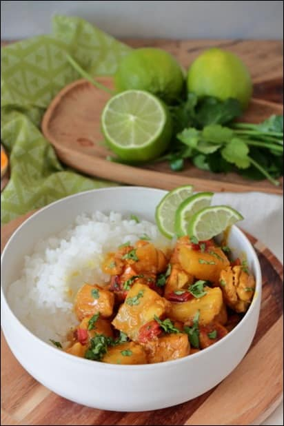curry poulet ananas