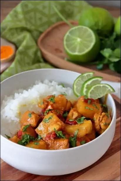curry poulet lait coco