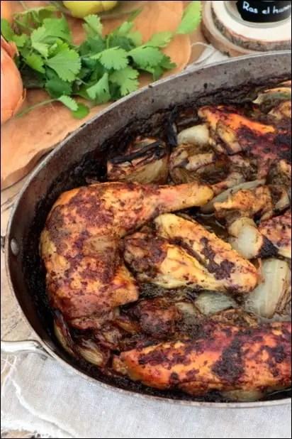 poulet rôti citron confit à la marocaine