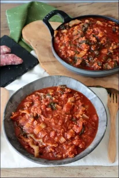 blette à la tomate