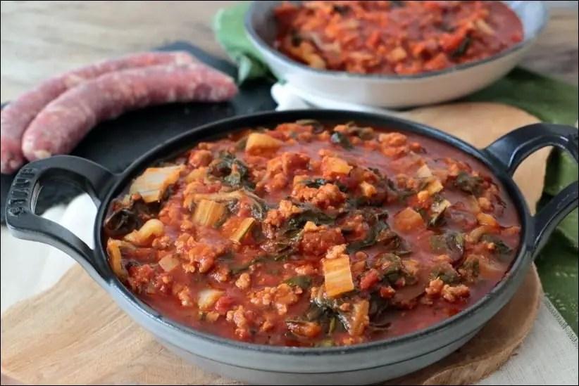 blette a la sauce tomate