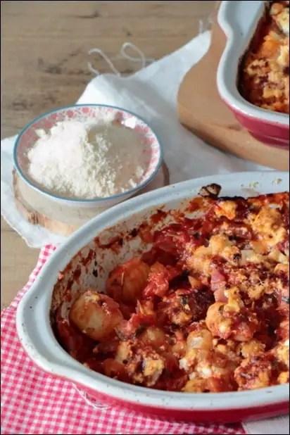 gnocchi sauce tomate gratinés