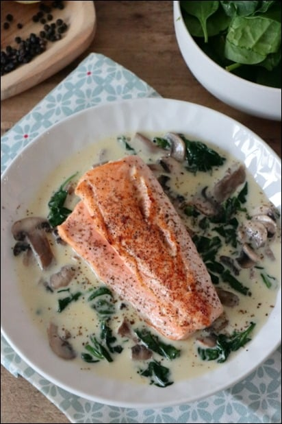 saumon epinard creme