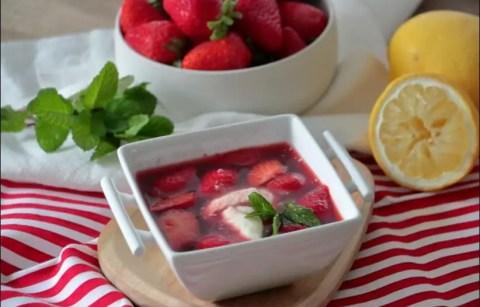 soupe de fraises de Cyril Lignac