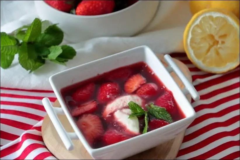 soupe de fraise grand chef