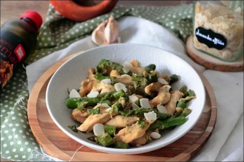 wok poulet asperges vertes