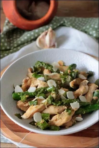 asperges vertes poulet
