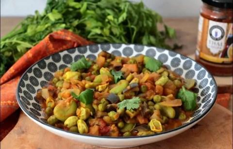 curry de fècves et petist pois