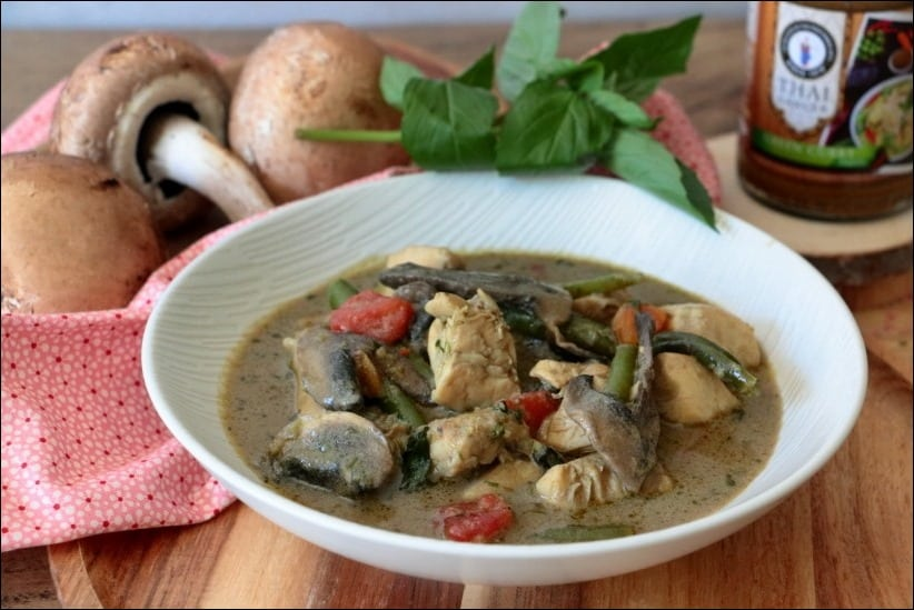 poulet de curry vert