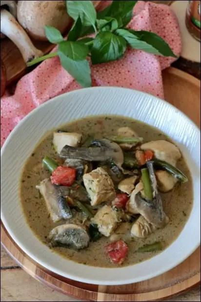 poulet curry vert au lait de coco