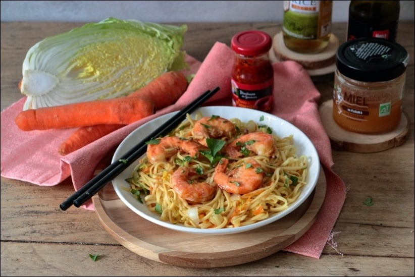 wok crevettes sauce soja