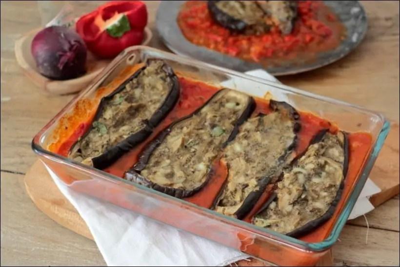 aubergines farcies au four