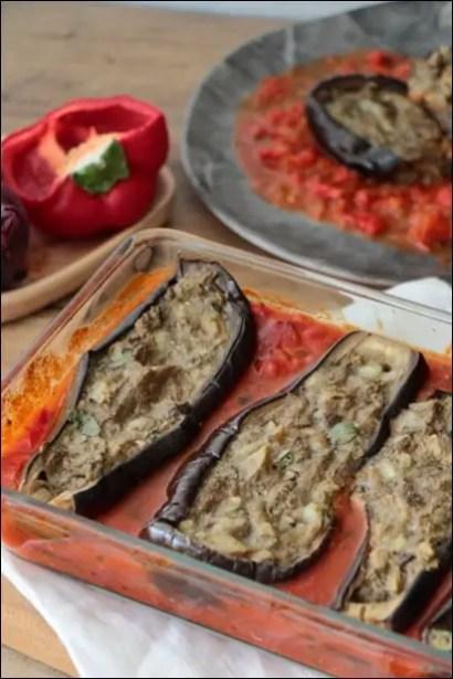 aubergines farcies sauce tomate