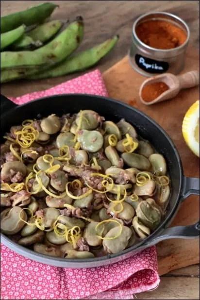 fèves cuisinées