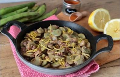 fèves au citron et à la coriandre de Yotam Ottolenghi