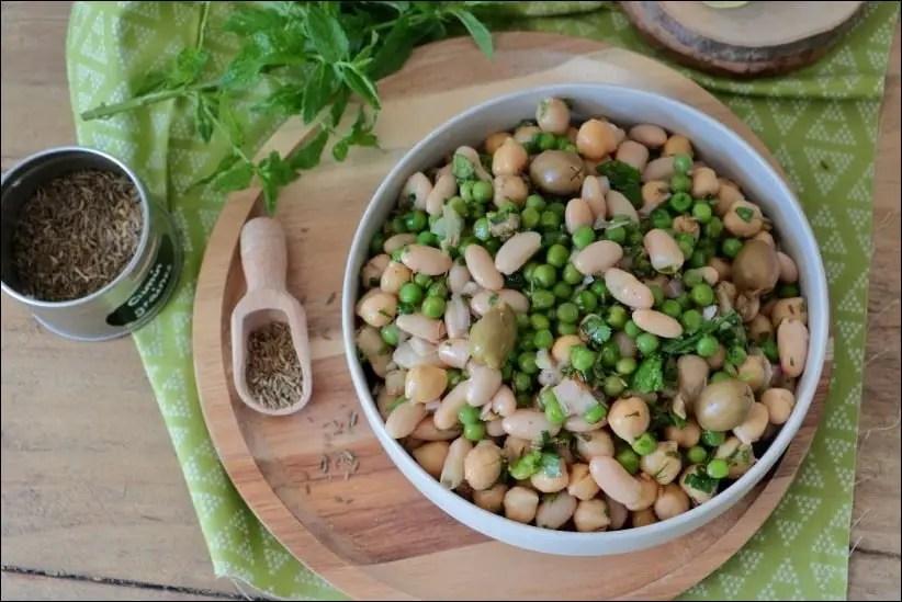 salade de haricots blancs vegan