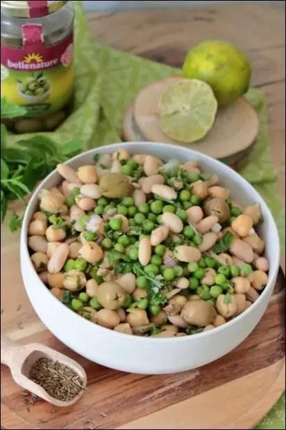 salade haricots blancs cumin