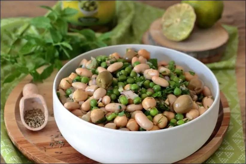 salade haricots blancs vegan