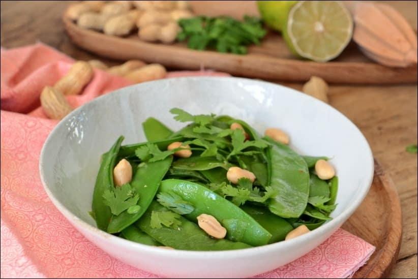 salade pois mange-tout thai