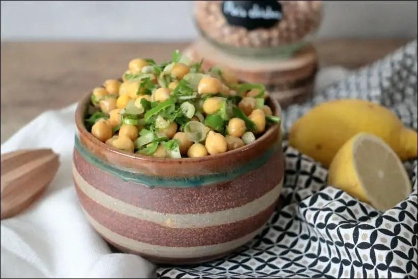 salade pois chiche israélienne