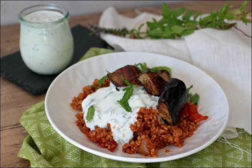 boulgour tomate aubergine ottolenghi