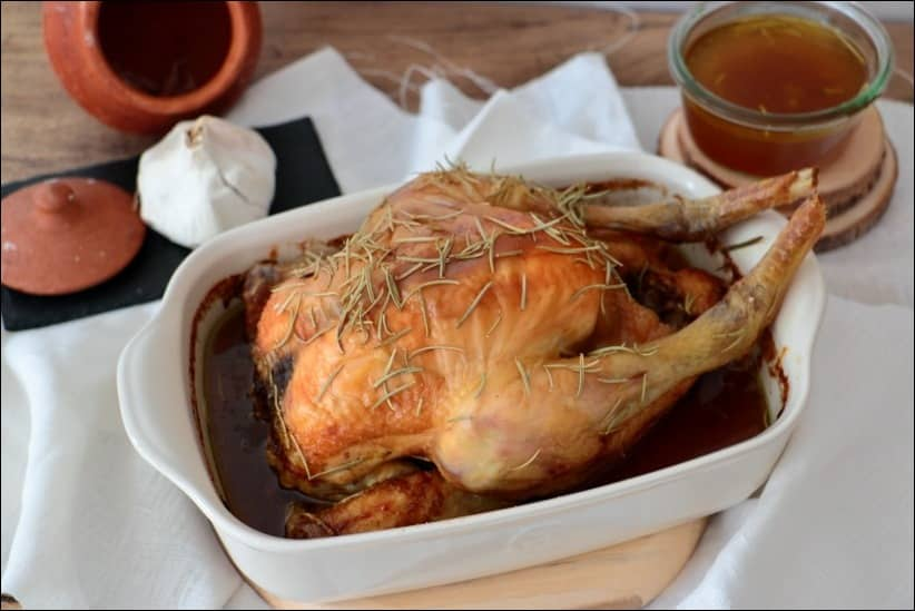 poulet basse température au four