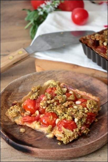 tarte tomate crumble pesto