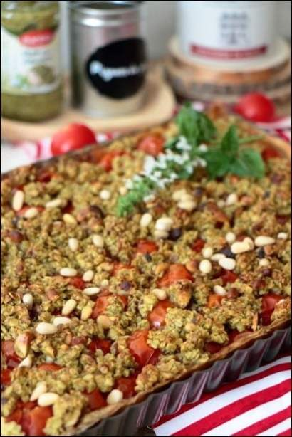 tarte tomate pesto pignons