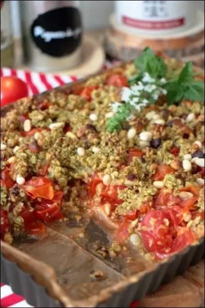 tarte tomate et pesto