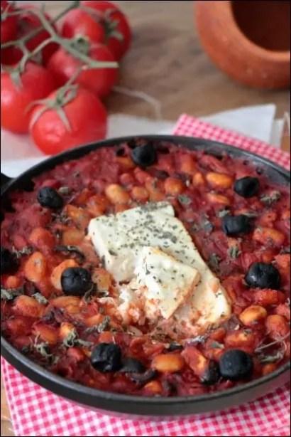 feta rotie haricots blancs sauce tomate