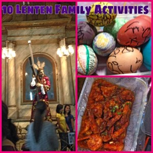 Ten lenten activities for the family