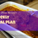 Happy Pinay Mommy Weekly Meal Plan #3