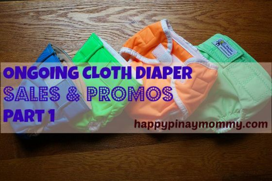 Ongoing CLoth Diaper Sales and Promos in the Philippines
