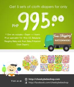 Ongoing Online Cloth Diaper Sales and Promos