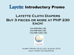 Ongoing CLoth Diaper Sales and Promos