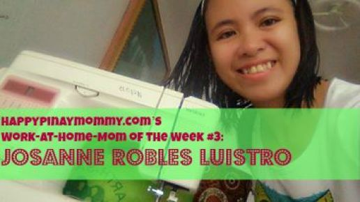 Happypinaymommy.com's Work-at-Home-Mom of the Week #3: Josanne Robles Luistro
