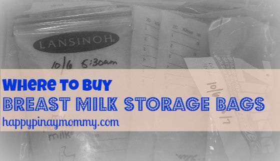 Where to Buy Breast Milk Storage Bags in the Philippines