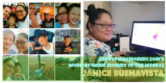 Happypinaymommy.com's Work-at-Home-Mom of the Week#2 is Janice Buenavista