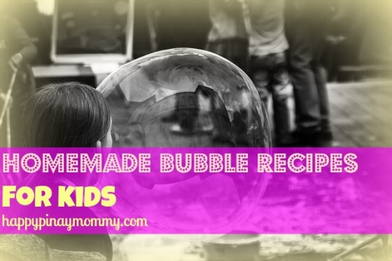 here are some easy bubble recipes you can make with your