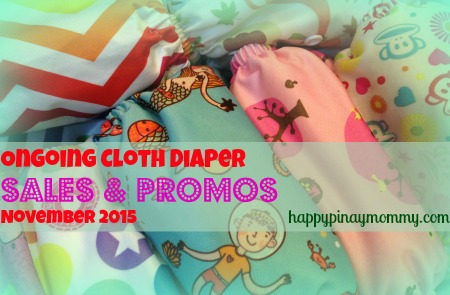 CLOTH DIAPER SALES AND PROMOS IN THE PHILIPPINES FOR NOVEMBER 2015:
