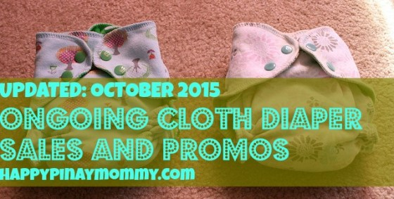 Online Cloth Diaper Shops with ongoing promo sale in the Philippines. (Photo Credits)