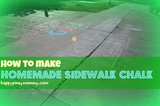 Here are some DIY recipes for Homemade Sidewalk Chalk in the Philippines (Photo Credits) https://www.flickr.com/photos/mtyndal/2390799894/
