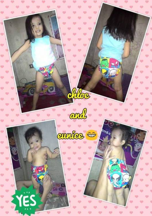 Mommy Zel's kids wearing Tahi Kho Cloth Diapers