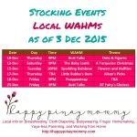 Philippine Cloth Diaper WAHMs Stocking Schedules for December 2015