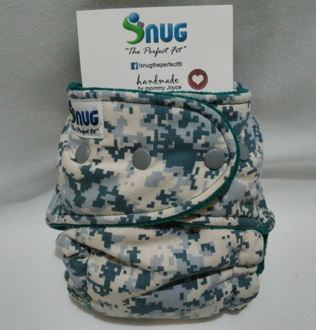 "Snug ""The Perfect Fit"" Hybrid Fitted Cloth Diapers. (Photo taken from their FB Page"