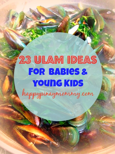 Meal Ulam Ideas for Filipino Babies and kids